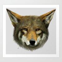 Wolf Face Art Print