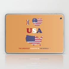 I LOVE USA - THE GREATEST COUNTRY IN THE WORLD ! Laptop & iPad Skin