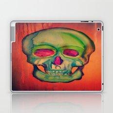 Watercolor skull/Green Laptop & iPad Skin