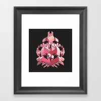 My Heart Is Made Of Lase… Framed Art Print