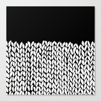 Half Knit Canvas Print