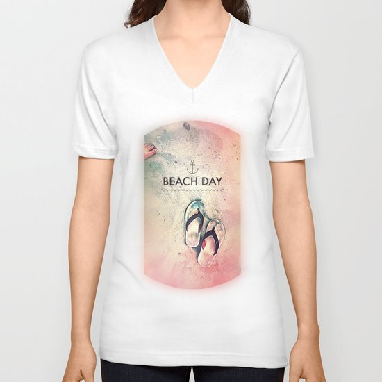 Beach Day V-neck T-shirt