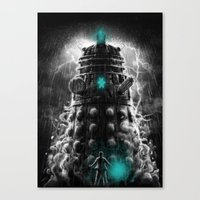 Shadow Of The Dalek Canvas Print