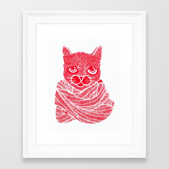 It's a Cat-Wrap Framed Art Print