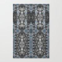 ReggeaLION: L-Blue Fract… Canvas Print