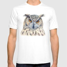 Eage Owl CC1404 Mens Fitted Tee White SMALL