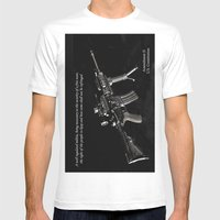 2nd Amendment Mens Fitted Tee White SMALL