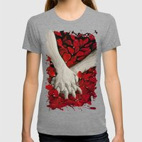 Hands Womens Fitted Tee Tri-Grey SMALL