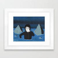 DROWNING IN A SEA OF UNC… Framed Art Print