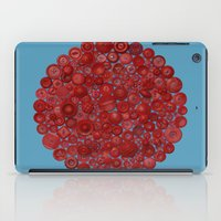 Red On Blue iPad Case