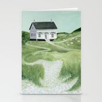 Cottage On The Beach Stationery Cards