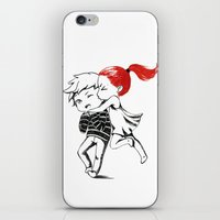 Girl and a Boy iPhone & iPod Skin