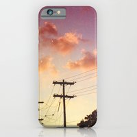 iPhone & iPod Case featuring Red hot summer sun set by Wood-n-Images
