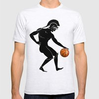 Hoplites Playing Basketb… Mens Fitted Tee Ash Grey SMALL