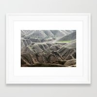 Traces Of Green Framed Art Print