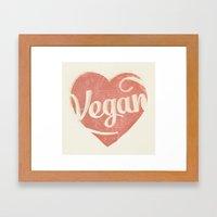 Vegan Love Framed Art Print