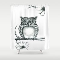 Fictional Owl Shower Curtain
