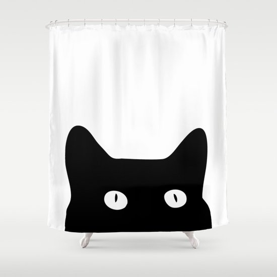 Black Cat Shower Curtain By Good Sense Society6