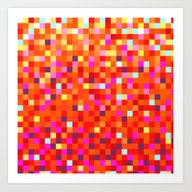 Art Print featuring Inferno -- Pixel Art By … by K_c_s