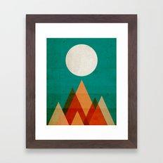 Full Moon Over Sahara De… Framed Art Print