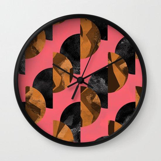 gold,black Wall Clock