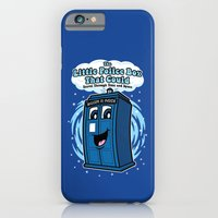 iPhone & iPod Case featuring The Little Police Box by Mike Handy Art