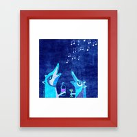 Fox fun Framed Art Print