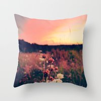 A Walk At Dusk Throw Pillow