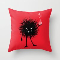 Evil Bug Made A Love Potion For You Throw Pillow