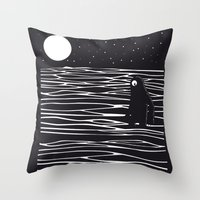 Scary monster! Throw Pillow