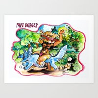 Fart Burger Art Print