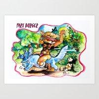 Fart Burger Art Print