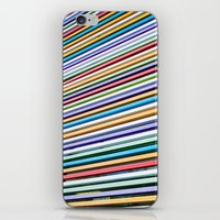 Colored Lines On The Wal… iPhone & iPod Skin