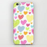 Spring Hearts iPhone & iPod Skin