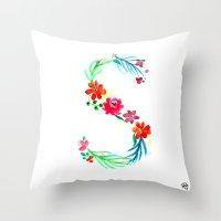 monograms - S Throw Pillow