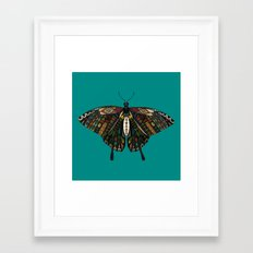 swallowtail butterfly teal Framed Art Print