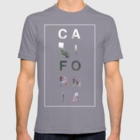 California Mens Fitted Tee Slate SMALL