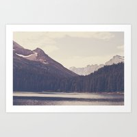 Morning Mountain Lake Art Print
