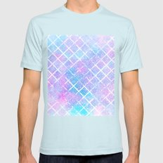 Starry Grid Mens Fitted Tee Light Blue SMALL