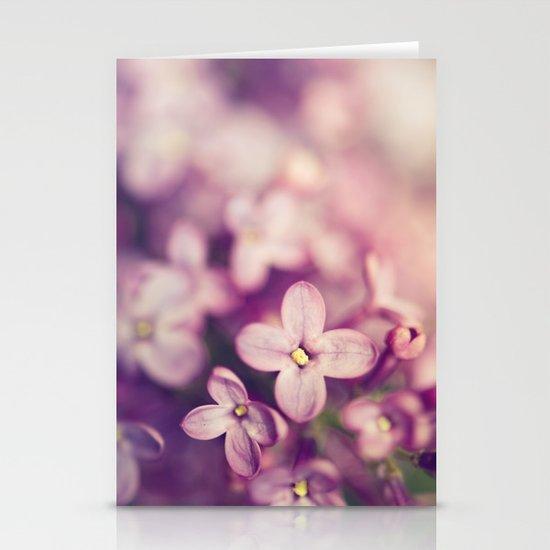 lilac Stationery Card