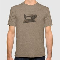 Singer Mens Fitted Tee Tri-Coffee SMALL