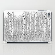 Birch Trees Black And Wh… iPad Case