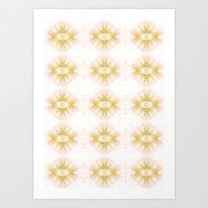 Green Eye Pattern  Art Print