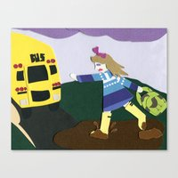 Running Late Canvas Print