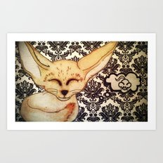 Fennec Fox dreams Art Print