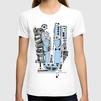 Sad Robot Womens Fitted Tee White SMALL