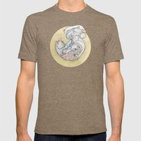 The lady and the cat. Mens Fitted Tee Tri-Coffee SMALL