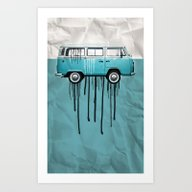 VW Kombi 2 Tone Paint Jo… Art Print