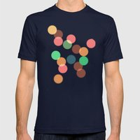 Round Bokeh Mens Fitted Tee Navy SMALL