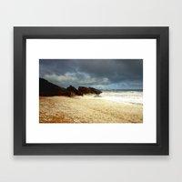 Foaming Residue Framed Art Print
